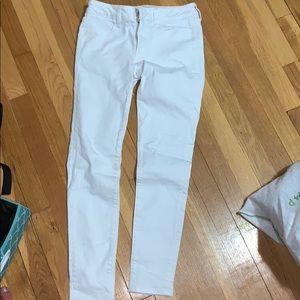 women's skinny white jeans